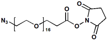 Picture of N<sub>3</sub>-PEG<sub>16</sub>-CH<sub>2</sub>CH<sub>2</sub>COONHS Ester