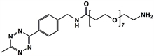 Picture of Methyltetrazine-amino-PEG<sub>7</sub>-amine