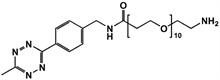 Picture of Methyltetrazine-amino-PEG<sub>10</sub>-amine