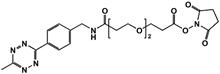 Picture of Methyltetrazine-amino-PEG<sub>2</sub>-CH<sub>2</sub>CH<sub>2</sub>COONHS