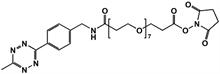 Picture of Methyltetrazine-amino-PEG<sub>7</sub>-CH<sub>2</sub>CH<sub>2</sub>COONHS
