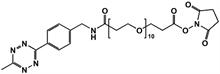 Picture of Methyltetrazine-amino-PEG<sub>10</sub>-CH<sub>2</sub>CH<sub>2</sub>COONHS
