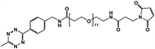 Picture of Methyltetrazine-amino-PEG<sub>11</sub>-CH<sub>2</sub>CH<sub>2</sub>NHMal