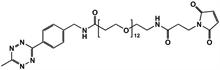 Picture of Methyltetrazine-amino-PEG<sub>12</sub>-CH<sub>2</sub>CH<sub>2</sub>NHMal