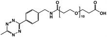 Picture of Methyltetrazine-amino-PEG<sub>10</sub>-CH<sub>2</sub>CH<sub>2</sub>COOH