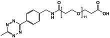 Picture of Methyltetrazine-amino-PEG<sub>11</sub>-CH<sub>2</sub>CH<sub>2</sub>COOH